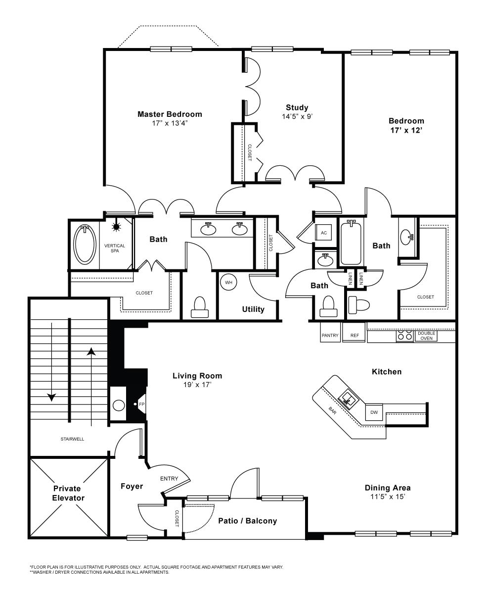 1,968 sq. ft. C2A floor plan