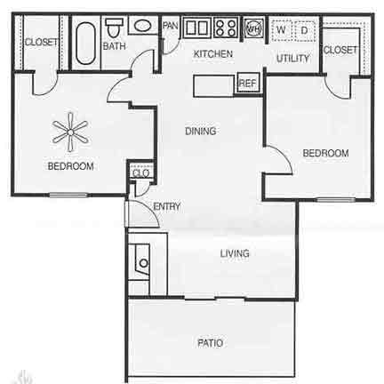 800 sq. ft. A1AD/CYPRESS floor plan