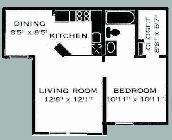 525 sq. ft. 11/COPPERGROVE floor plan