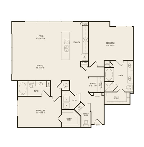 1,719 sq. ft. B4.1 floor plan