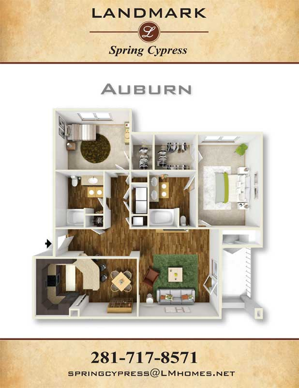 1,172 sq. ft. Auburn floor plan