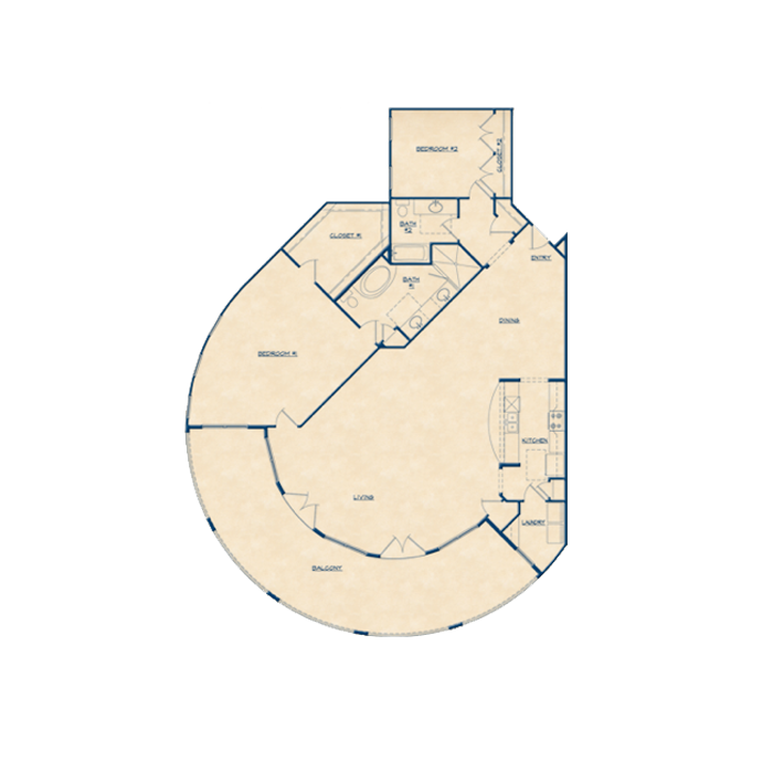 2,073 sq. ft. B5 floor plan