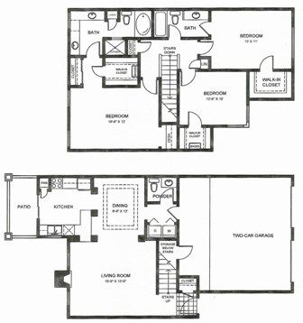 1,699 sq. ft. C3THG floor plan