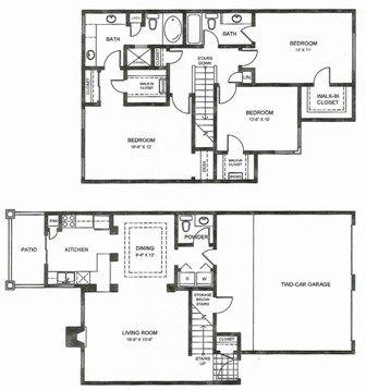 1,699 sq. ft. C3THG floor plan