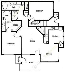 1,184 sq. ft. Brunswick floor plan