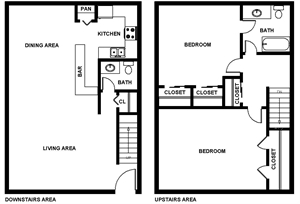 1,230 sq. ft. Byland floor plan