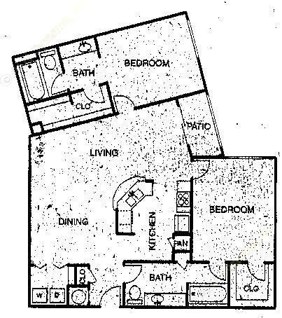 1,161 sq. ft. B5 floor plan