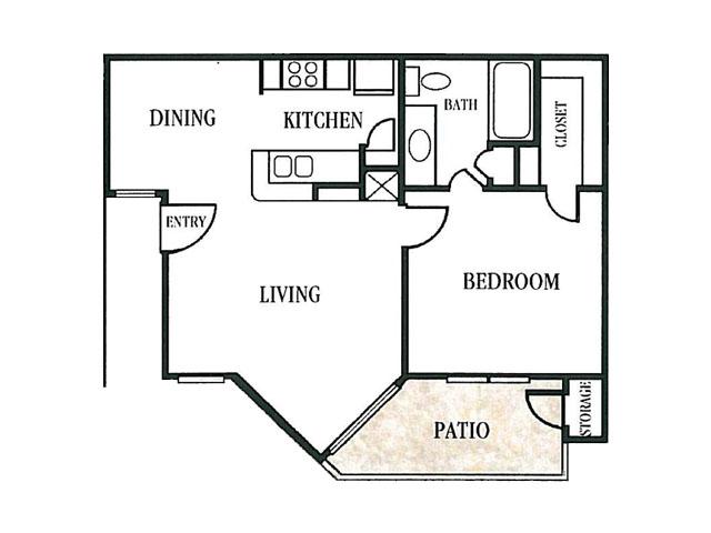 596 sq. ft. floor plan