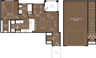 762 sq. ft. to 785 sq. ft. London floor plan