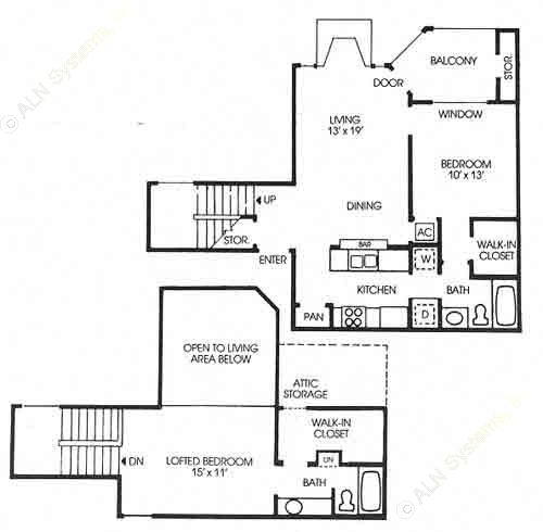 1,405 sq. ft. Cottonwood - Classic floor plan
