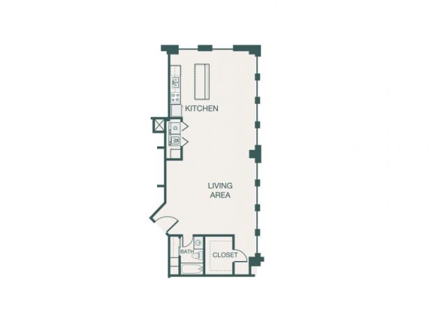 1,161 sq. ft. D floor plan