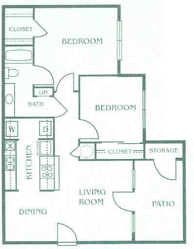 800 sq. ft. 60% floor plan