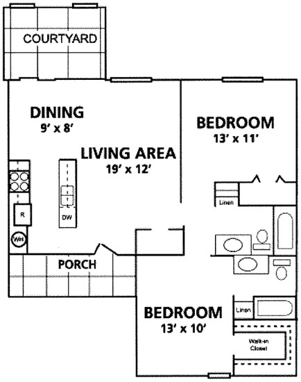 950 sq. ft. Verdi floor plan