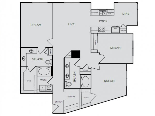 1,522 sq. ft. E1a floor plan