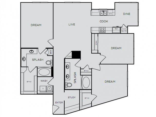 1,522 sq. ft. E1a floor plan