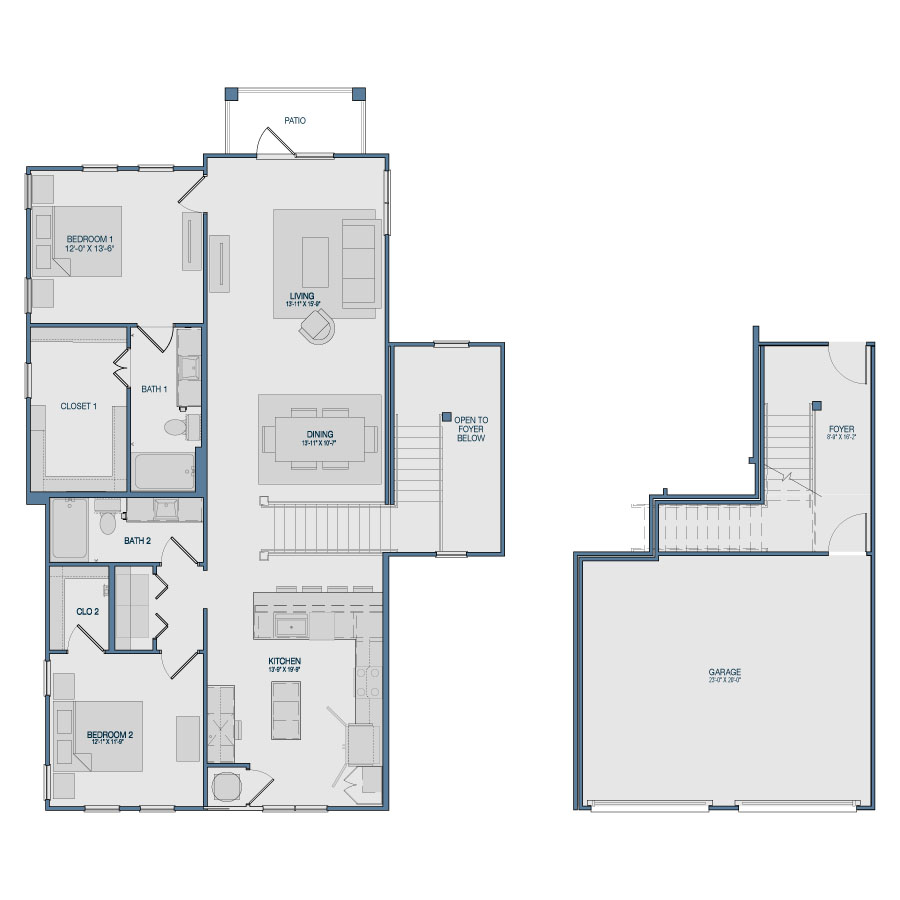 1,565 sq. ft. B7 floor plan
