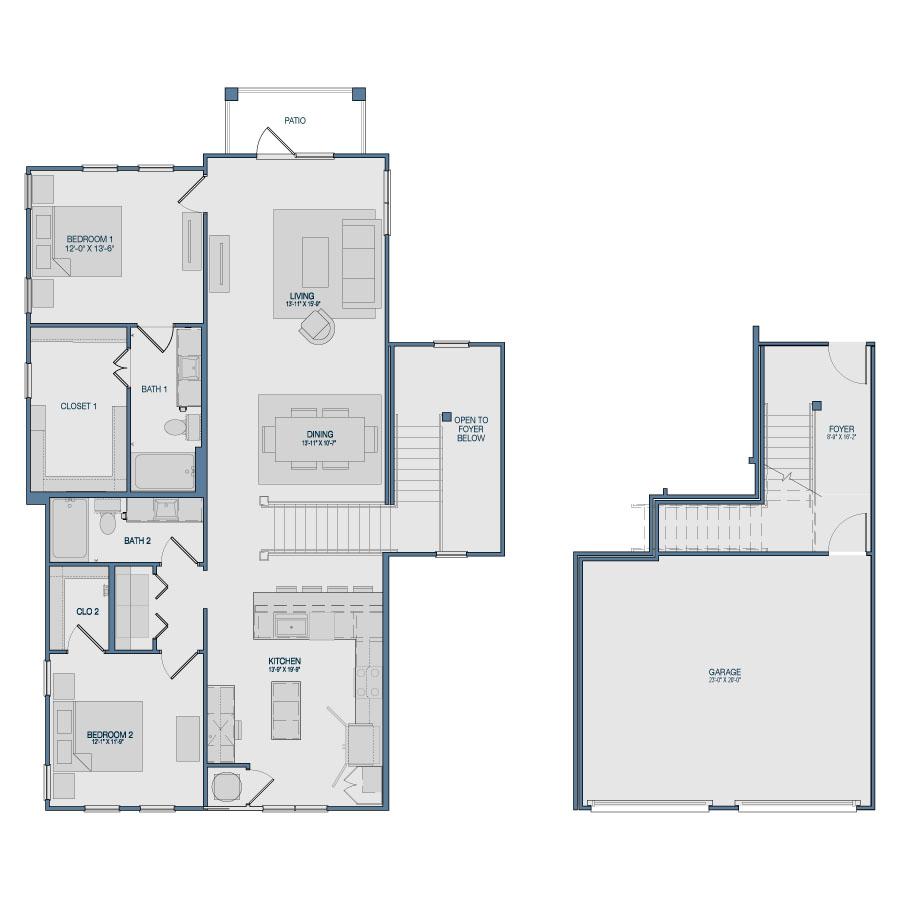 1,565 sq. ft. B7 floor plan