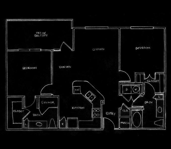 1,078 sq. ft. B2 ALT2 floor plan