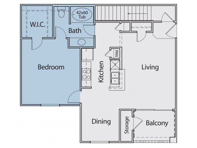 838 sq. ft. A2-II 30 floor plan