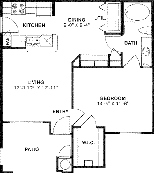 679 sq. ft. 50 floor plan