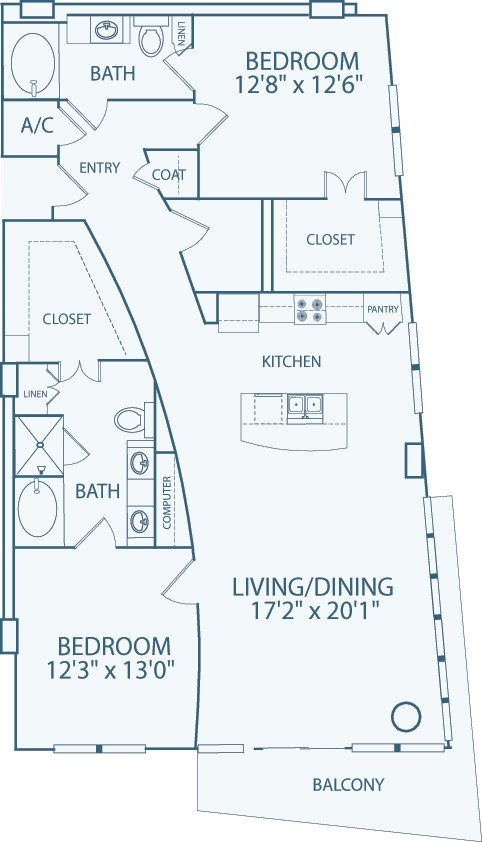 1,539 sq. ft. B7 floor plan