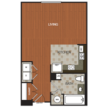 623 sq. ft. C7 floor plan