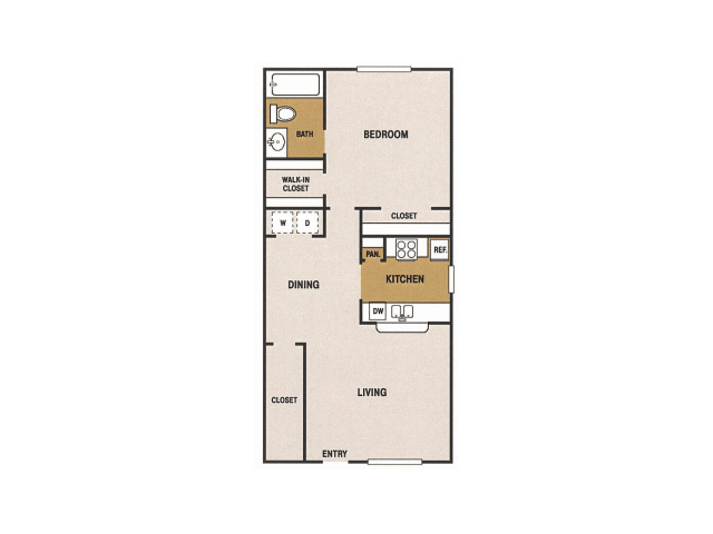 880 sq. ft. I floor plan