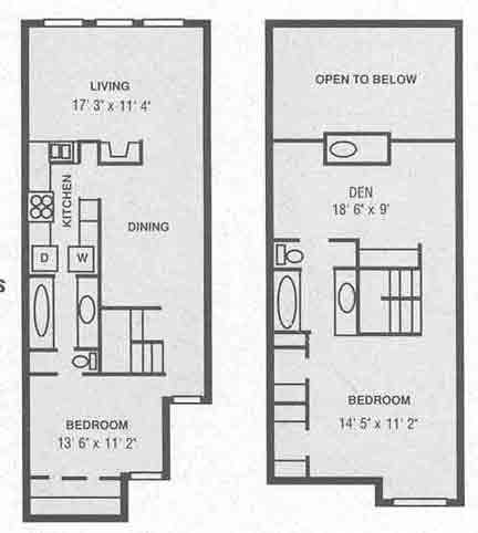 1,450 sq. ft. B-2 floor plan