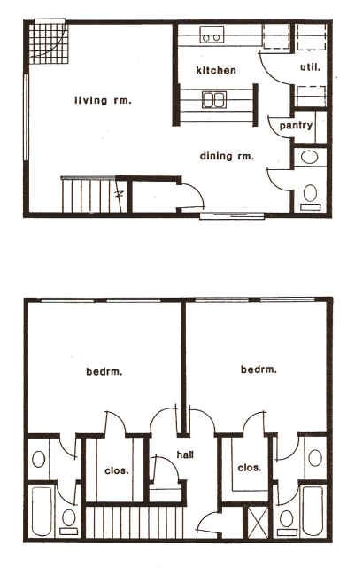 1,175 sq. ft. A/B floor plan