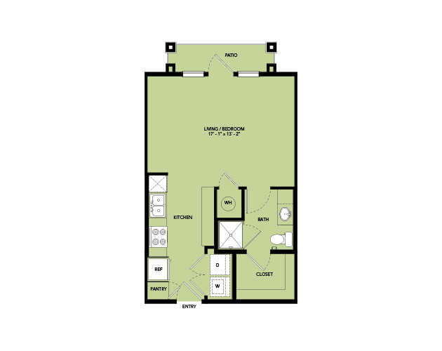 495 sq. ft. A0.1 floor plan