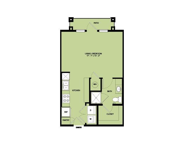 495 sq. ft. A0.2 floor plan