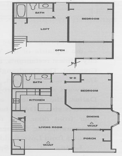 1,022 sq. ft. M floor plan