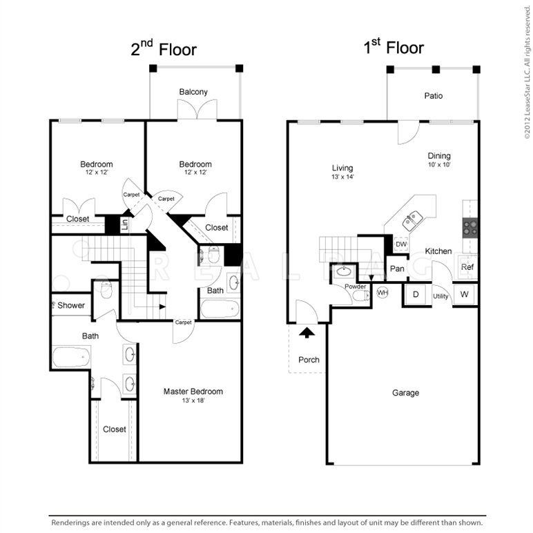 1,587 sq. ft. TH3 floor plan