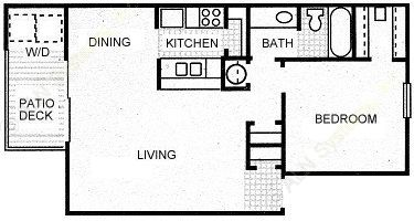 750 sq. ft. STETSON floor plan