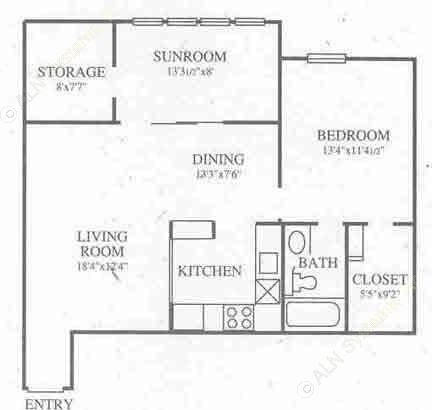 838 sq. ft. A5 Prem floor plan