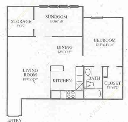 838 sq. ft. A5 Prem floor plan