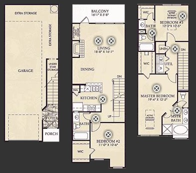 1,540 sq. ft. C2/C2U floor plan