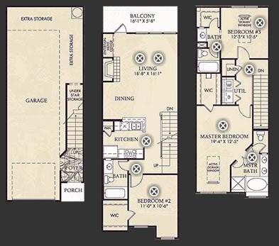 1,510 sq. ft. C1 floor plan