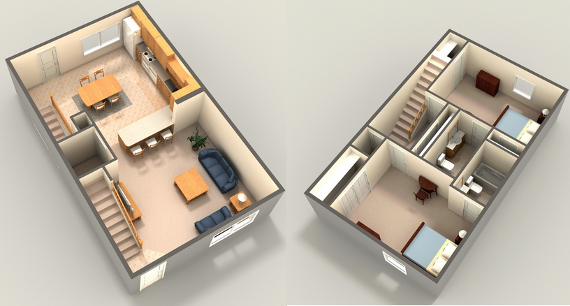 2,000 sq. ft. floor plan