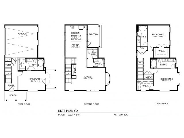 2,110 sq. ft. THC.2GG floor plan