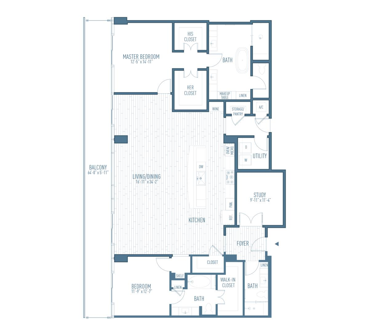2,191 sq. ft. P5/Flex floor plan