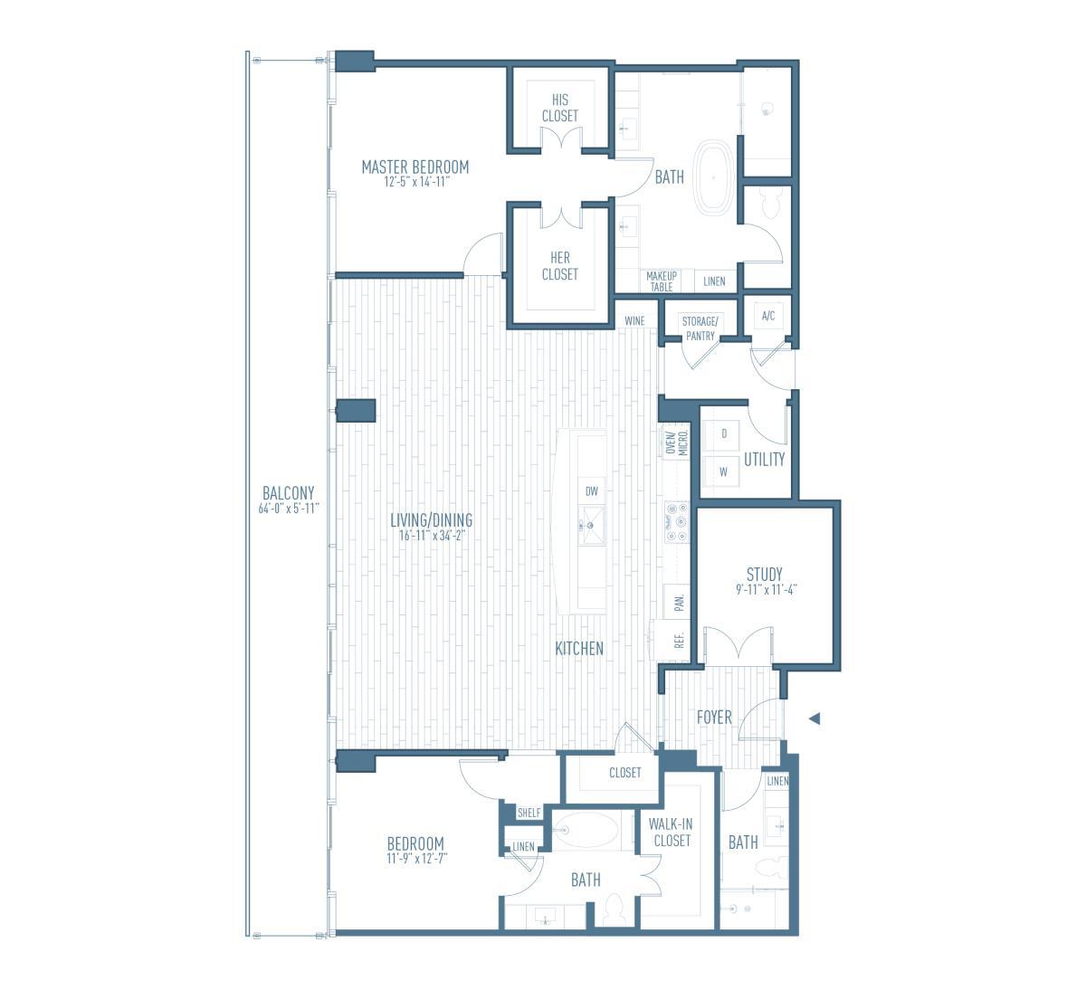 2,191 sq. ft. P5/Flex floor plan