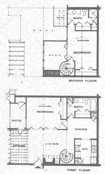 1,003 sq. ft. A2 floor plan