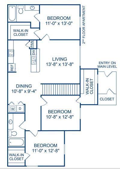 1,233 sq. ft. Bosque floor plan