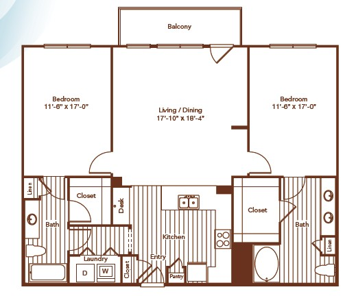 1,344 sq. ft. floor plan