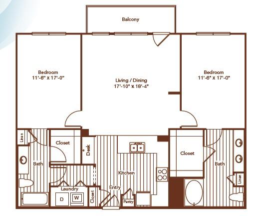 1,344 sq. ft. floor plan