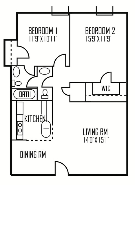 904 sq. ft. Vega floor plan