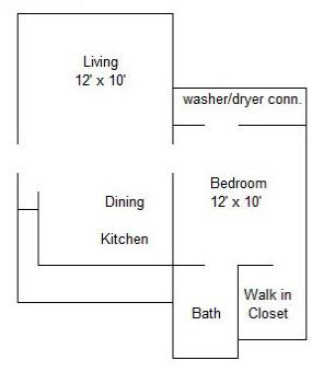 620 sq. ft. floor plan
