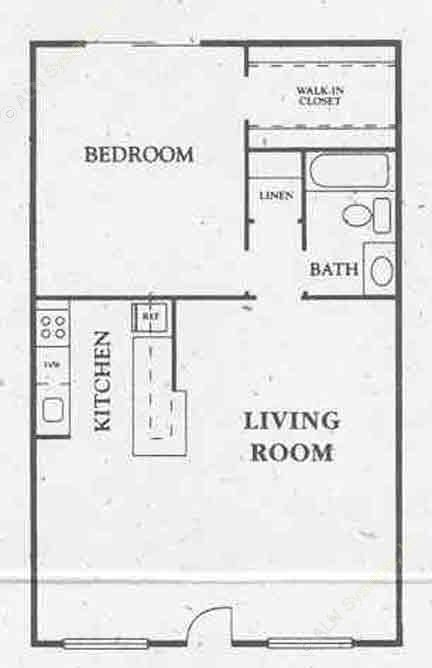 740 sq. ft. All Bills floor plan