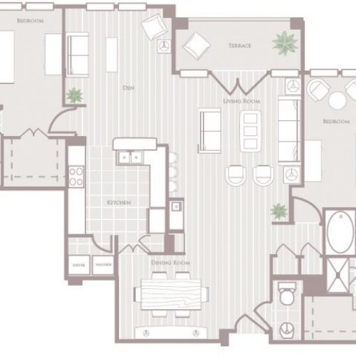 1,735 sq. ft. to 1,754 sq. ft. floor plan